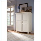 Hammary Camden Home Office Cabinet in Painted White
