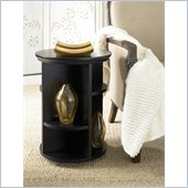Hammary Chairsides Chairside Table - Black in Coffee & Oak