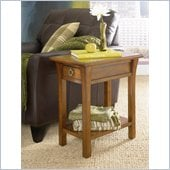 Hammary Chairsides Chairside Table - Oak in Coffee & Oak