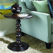 Hammary Hidden Treasures Round Accent Pedestal Table in Dark Brown