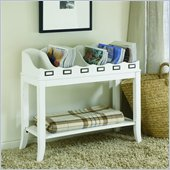 Hammary Hidden Treasures White Magazine Table in White