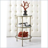 Hammary Hidden Treasures 3-Tiered Accent Table in Champagne
