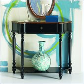 Hammary Hidden Treasures Console Table in Black & Brown