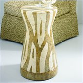 Hammary Hidden Treasures Zebra Accent Table in Zebra