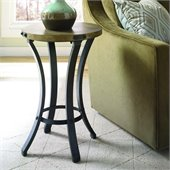 Hammary Hidden Treasures Round Accent Table in Black & Brown