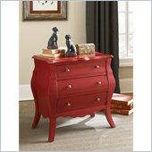 Hammary Hidden Treasures Red Drawer Chest in Red