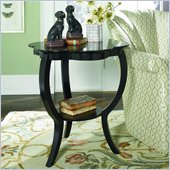 Hammary Hidden Treasures Black Flower Accent Table in Black