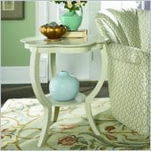 Hammary Hidden Treasures Gray Flower Accent Table in Gray