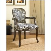 Hammary Hidden Treasures Accent Chair in Black with Zebra Print