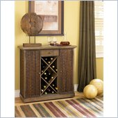 Hammary Hidden Treasures Bar Cabinet in Medium Wood