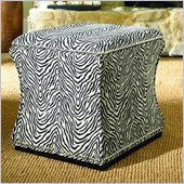 Hammary Hidden Treasures Fabric Storage Cube in Zebra