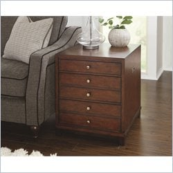 Hammary Modern Lodge Rectangular Drawer End Table in Rustic Cherry