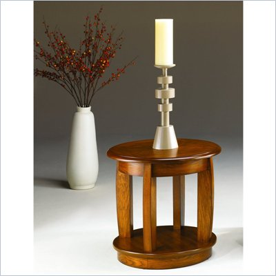Hammary Ascend Round End Table in Merlot
