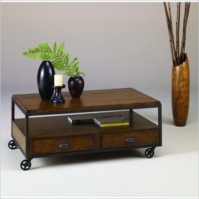Hammary Baja Rectangular Cocktail Table in Umber