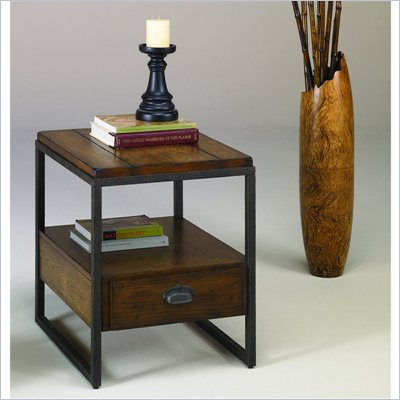 Hammary Baja Rectangular Drawer End Table in Umber
