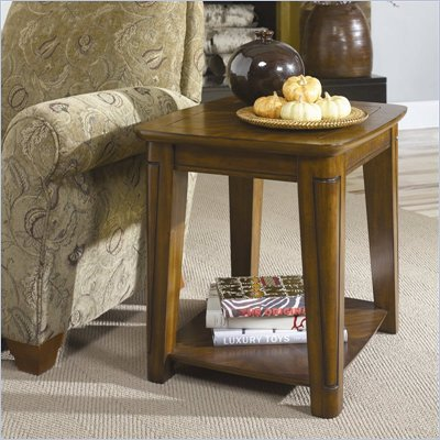 Hammary Bar Harbor Rectangular End Table in Chestnut
