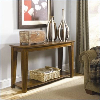 Hammary Bar Harbor Sofa Table in Chestnut