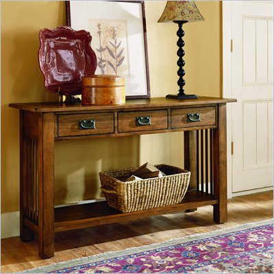 Hammary Canyon Sofa Table in Mission Oak