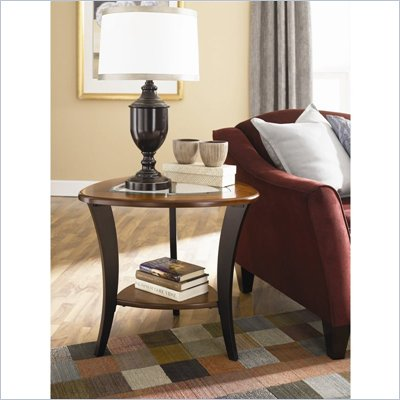 Hammary Flair End Table in Midtone and Rich Dark Brown Finish