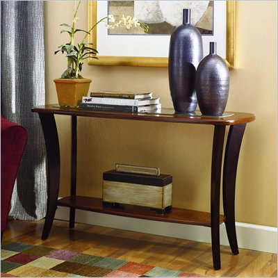 Hammary Flair Sofa Table in Midtone and Rich Dark Brown Finish
