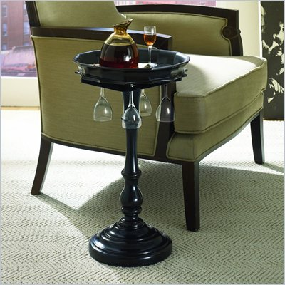Hammary Hidden Treasures Wine Accent Table in Rich Dark Brown