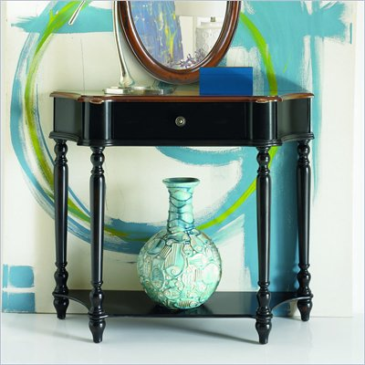 Hammary Hidden Treasures Console Table in Black &amp; Brown