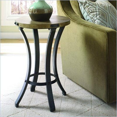 Hammary Hidden Treasures Round Accent Table in Black &amp; Brown
