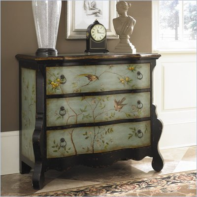 Hammary Hidden Treasures Accent Chest in Aqua and Black Finish