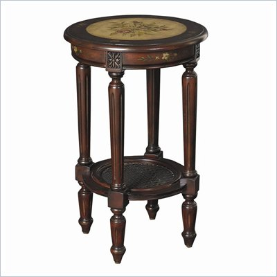 Hammary Hidden Treasures Round Accent Table in Two-Toned Finish