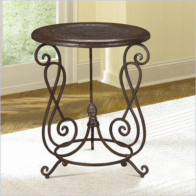 Hammary Hidden Treasures Round Metal Accent Table