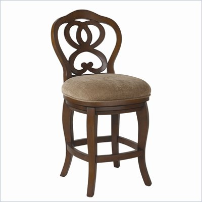 Hammary Hidden Treasures 24&quot; Counter Height Bar Stool in Cherry