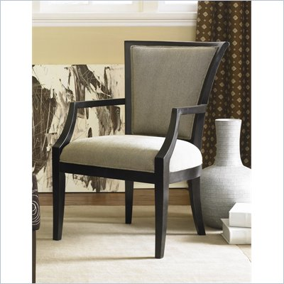 Hammary Hidden Treasures Accent Chair in Black Painted Finish