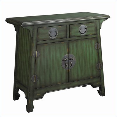 Hammary Hidden Treasures 2 Drawer Accent Chest in Antiqued Green