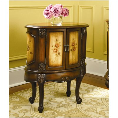 Hammary Hidden Treasures Oval Accent Chest in Dark Brown Finish