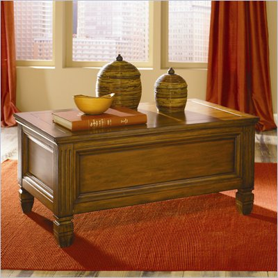 Hammary Hidden Treasures Trunk Cocktail Table in Oak Finish