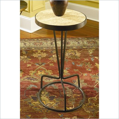 Hammary Hidden Treasures Round Accent Table in Antiqued Bronze