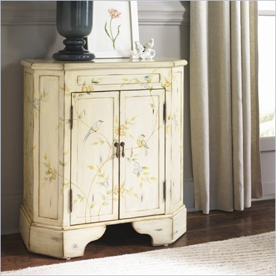 Hammary Hidden Treasures Two Door Accent Chest in Antiqued White