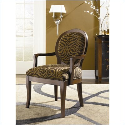 Hammary Hidden Treasures Zebra Fabric Accent Arm Chair