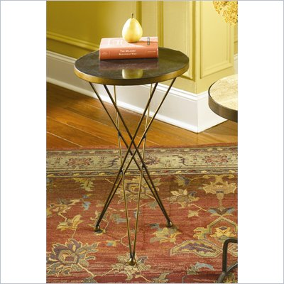 Hammary Hidden Treasures Martini Accent Table in Black and Gold