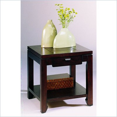 Hammary Kanson Rectangular Drawer End Table in Oxblood