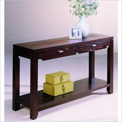 Hammary Kanson Sofa Table in Oxblood