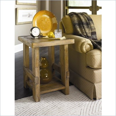 Hammary Luberon Rectangular End Table in Weathered Pine Finish