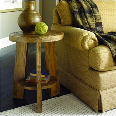 Hammary Luberon Round Accent Table in Weathered Pine Finish