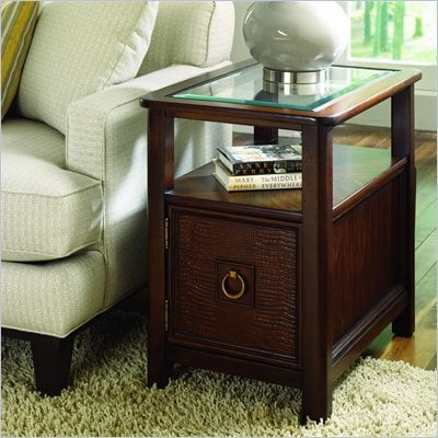 Hammary Magellan Chairside Table in Chocolate
