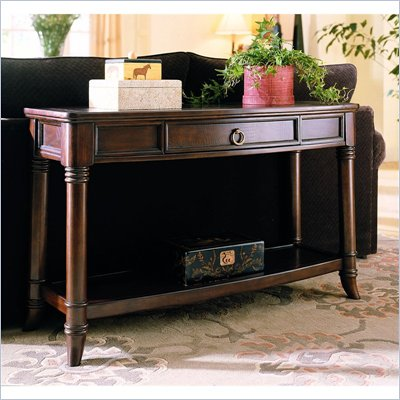 Hammary Magellan Console Table in Chocolate