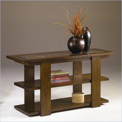 Hammary Marika Sofa Table in Glazed Chestnut Finish