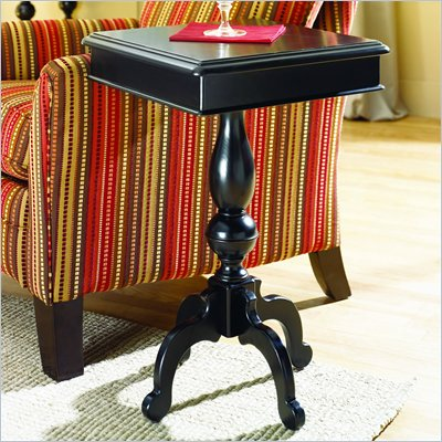 Hammary Mercer Square Accent Table in Black Painted Finish