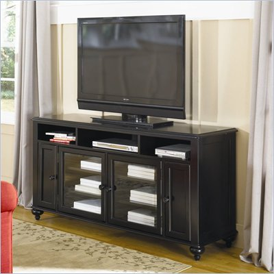 Hammary Mercer Entertainment Console/TV Stand in Black Painted Finish