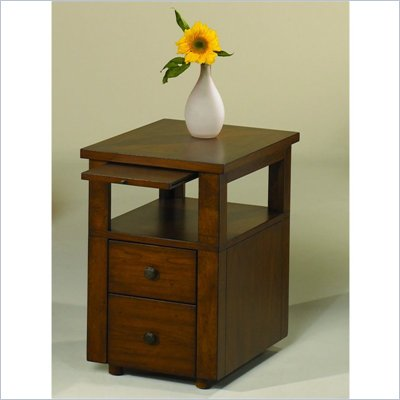 Hammary Nuance Chairside Table in Cherry