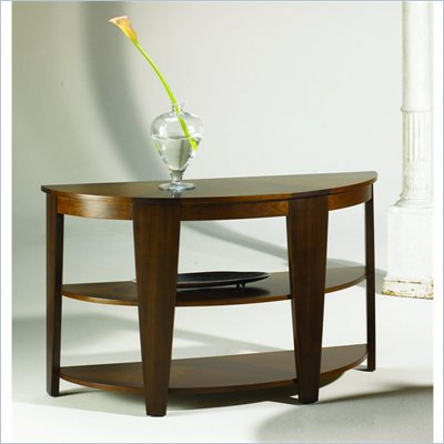 Hammary Oasis Demilune Sofa Table in Cherry/Walnut